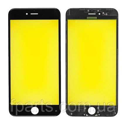 Стекло дисплея iPhone 6 Plus с рамкой и пленкой OCA (Black) Original, фото 2