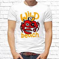 """Чоловіча футболка Push IT з принтом Краб-пірат """"Wild beach"""""""
