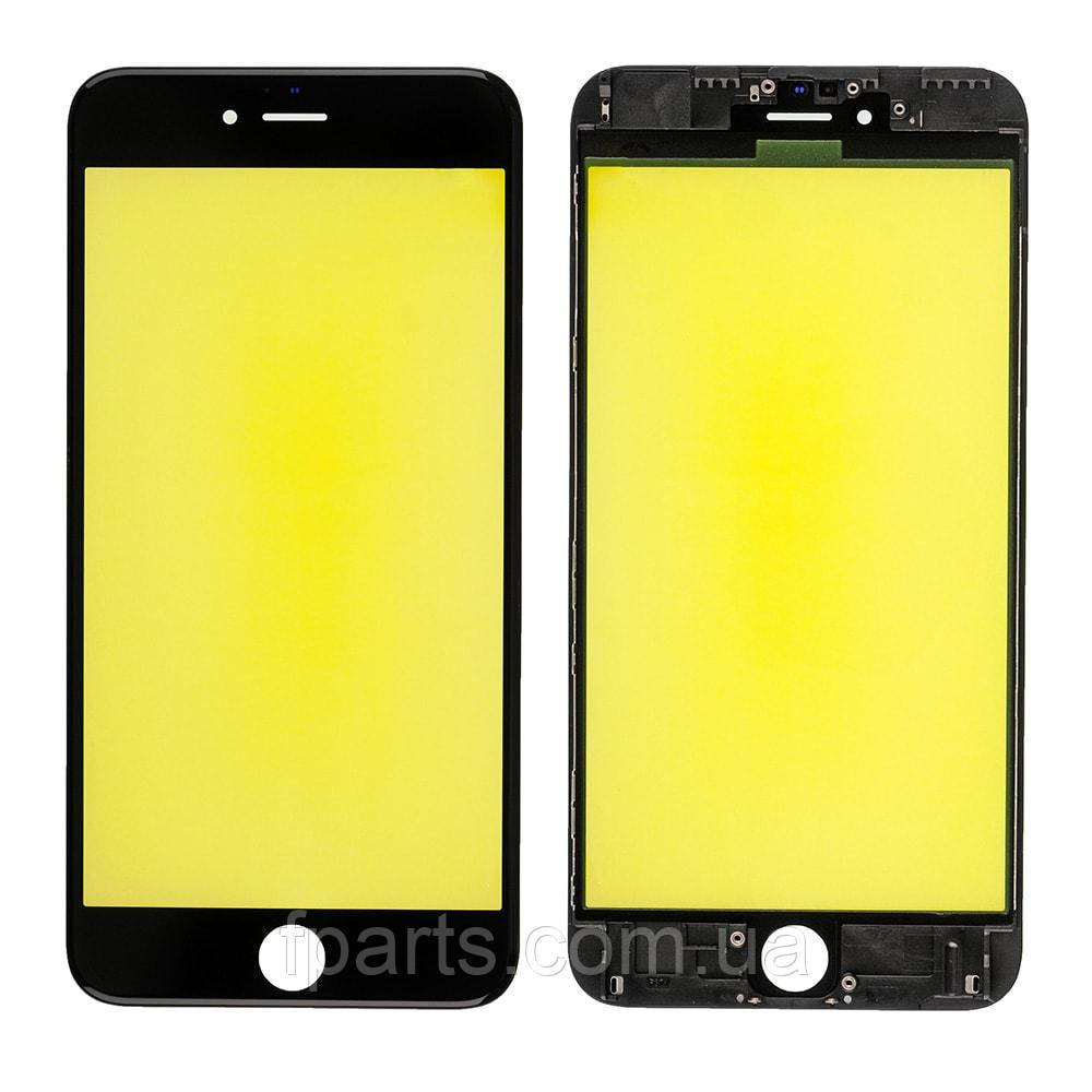 Стекло дисплея iPhone 6S Plus с рамкой и пленкой OCA (Black) Original