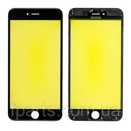 Стекло дисплея iPhone 6S Plus с рамкой и пленкой OCA (Black) Original, фото 2