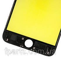 Стекло дисплея iPhone 6S Plus с рамкой и пленкой OCA (Black) Original, фото 3