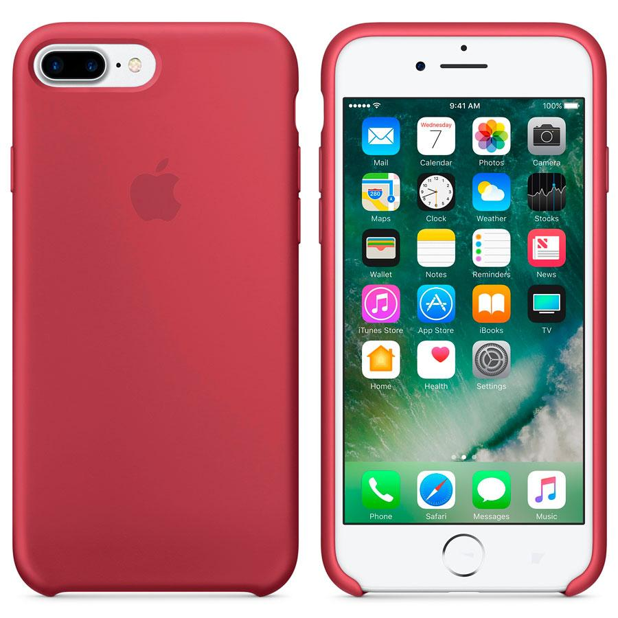 Чехол Soft Touch для Apple iPhone 8 Plus Raspberry Red
