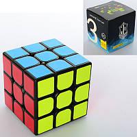 Кубик QingHong YumoCube 3x3, Чорний пластик, в коробці