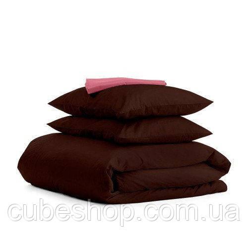 Комплект полуторного постельного белья CHOCOLATE PUDRA-S (хлопок, сатин)