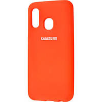 Silicone Cover Full Protective Samsung Galaxy A20/A30 (A205F/A305F) orange