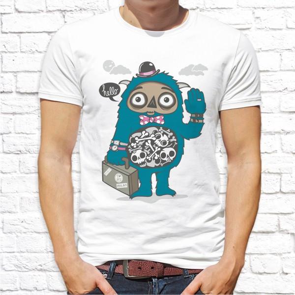 Мужская футболка с принтом Push IT