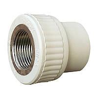 1004 Муфта 32 мм на 3/4' ВР «VS Plast» полипропиленовая с внутренней резьбой