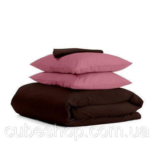 Комплект полуторного постельного белья CHOCOLATE PUDRA-P (хлопок, сатин)