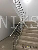Перила из нержавейки для лестницы с ригелями