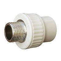 1005 Муфта 50 мм на 1 1/2' НР «VS Plast» полипропиленовая с наружной резьбой