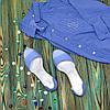 Босоножки женские кожаные на низком ходу, с закрытой пяткой, фото 6