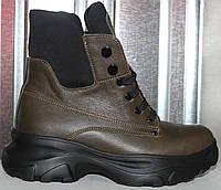 Ботинки женские зимние кожаные от производителя модель РИА-2-2, фото 1