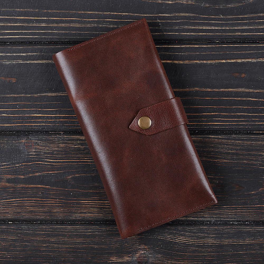 Портмоне v.4.0. FIsher Gifts VIP каламбия коричневый (кожа)