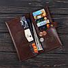 Портмоне v.4.0. FIsher Gifts VIP каламбия коричневый (кожа), фото 3