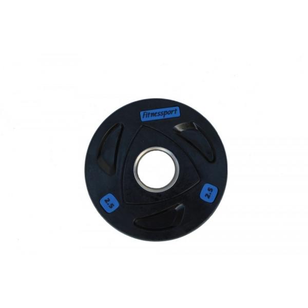 Блин (диск) для штанги обрезиненный 2,5 кг (52 мм)