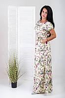 """Платье летнее в пол  """"Полевые цветы"""" Размеры 44-54"""