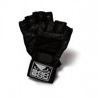 Перчатки для тренажерного зала Bad Boy Weight Lifting Gloves Leather