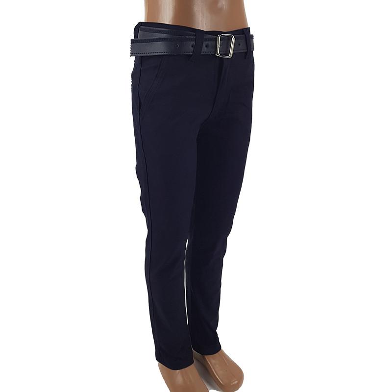 Штаны для мальчика т.синие 116-140(6-10лет)арт.1185                                                 , фото 1