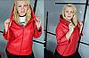 Шкіряна куртка з капюшоном на пишних жінок, з 48 по 82 розмір