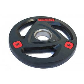 Блин (диск) для штанги обрезиненный 5 кг (52 мм)
