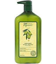 Шампунь на основе оливкового масла Chi Olive Organics Hair And Body Shampoo Body Wash 710 Шампунь на основеml
