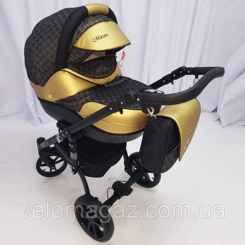 """Всесезонная детская коляска 2 в 1 """"MACAN"""" Black-gold"""