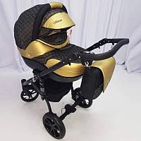 """Всесезонная детская коляска 2 в 1 """"MACAN"""" Black-gold, фото 1"""