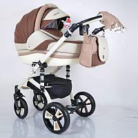 """Всесезонная детская коляска 2 в 1 """"MACAN"""" White-Brown, фото 1"""