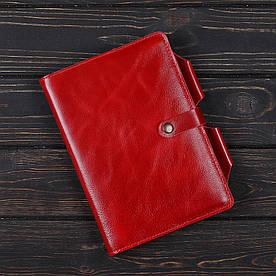 Обложка на блокнот 3.0 Fisher Gifts VIP алькор красный (кожа)