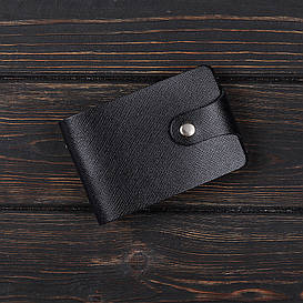 Визитница, картхолдер 2.0 Fisher Gifts BUSSINES портофино черный (кожа)