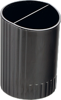 Стакан для ручек Buromax Jobmax на два отделения чёрный