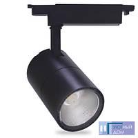 Світлодіодний світильник трековий Feron AL103 COB 30W 2700K чорний, фото 1