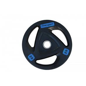 Блин (диск) для штанги обрезиненный 20 кг (52 мм)