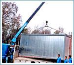 Перевозка вагончиков - Услуги по перевозке строительных вагончиков