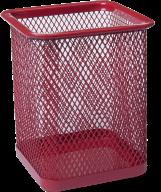 Стакан для ручек Buromax металлический красный