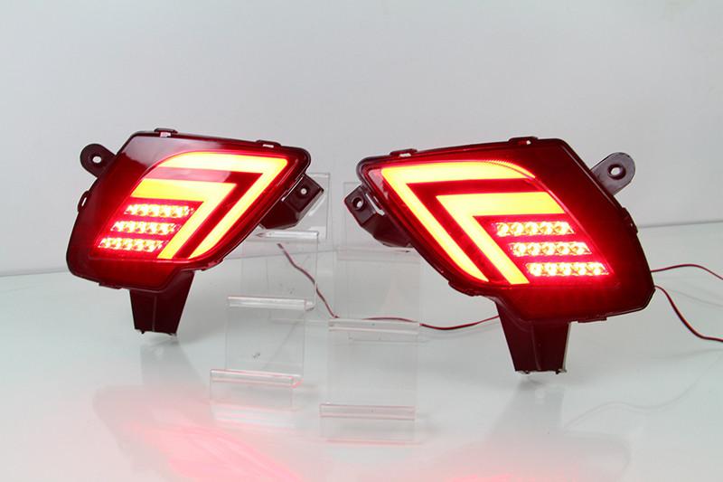 Диодные LED вставки в бампер катафоты Mazda CX-5 (2012+)