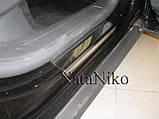 Защитные хром накладки на пороги Volkswagen passat cc (фольксваген пассат цц) 2008+, фото 6