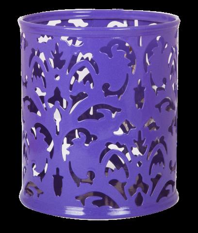 Стакан для ручек Buromax Barocco металлический фиолетовый