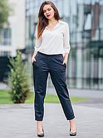 """Модные женски брюки джоггеры на манжетах """"size+"""" 2730"""