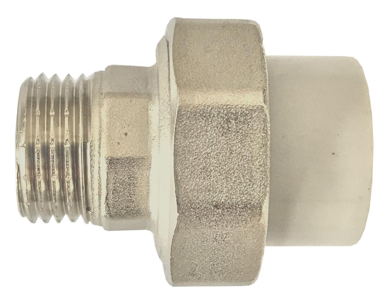 13001 Муфта Kalde 20 мм на 1/2' ECO разборная с наружной резьбой
