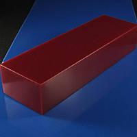 Брусок Микарта для рукоятки ножа № 95220 синт.ткань, красный 25х40х130 мм., фото 1