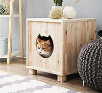 "Деревянная будка ""Бри"" для кошки"
