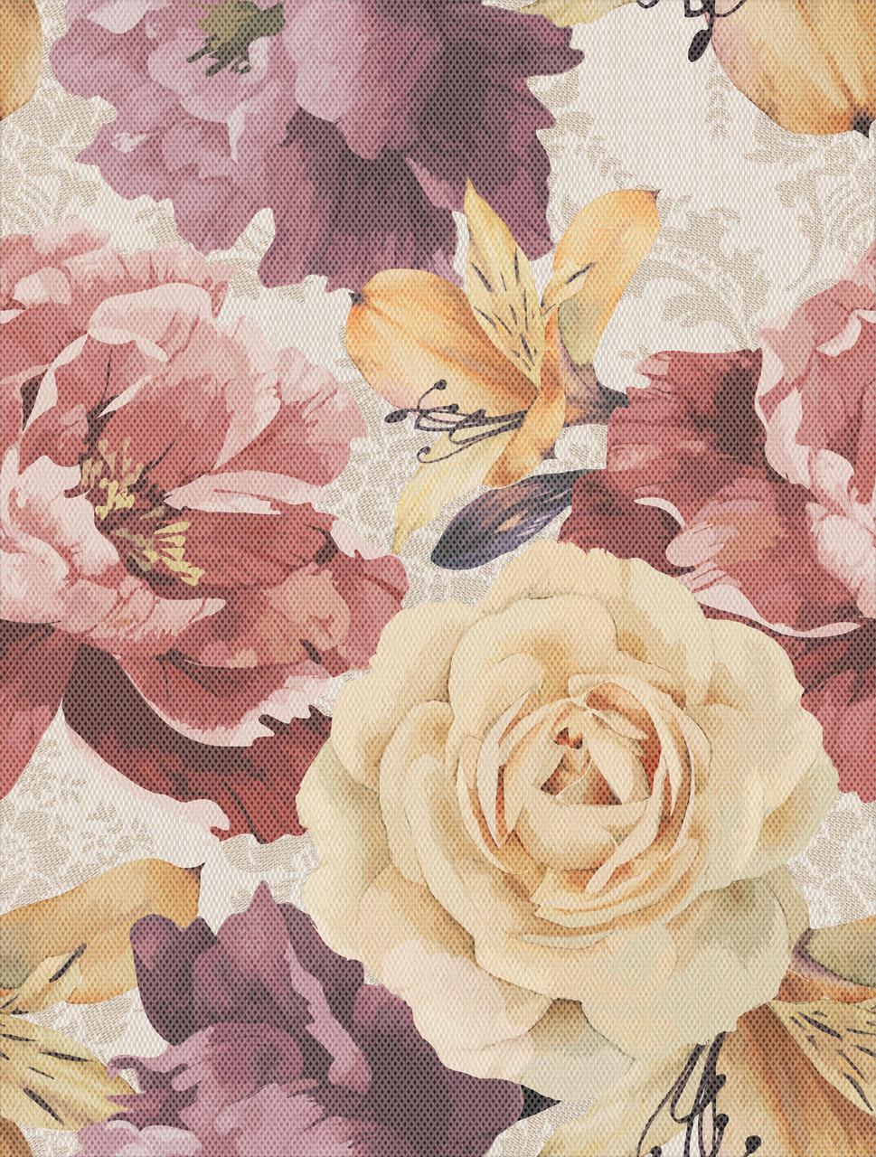Акция! Плитка для стен Gobelen flower бежевый 250x330x7,5 мм