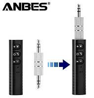 Bluetooth 3,5 мм адаптер Anbes BT-801 для наушников, автомобильной магнитолы AUX т.п. стерео