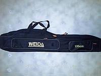 Чехол для удилищ WEIDA 1.35 метра(жесткий каркас) 2 отделения, фото 1