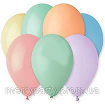 """10"""" (26 см) пастель Macaron ассорти 1 шт. Gemar Италия латексный шар"""
