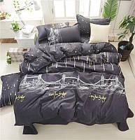 Сатиновое постельное бельё (12400) двуспальное евро 200*220 хлопок, фото 1