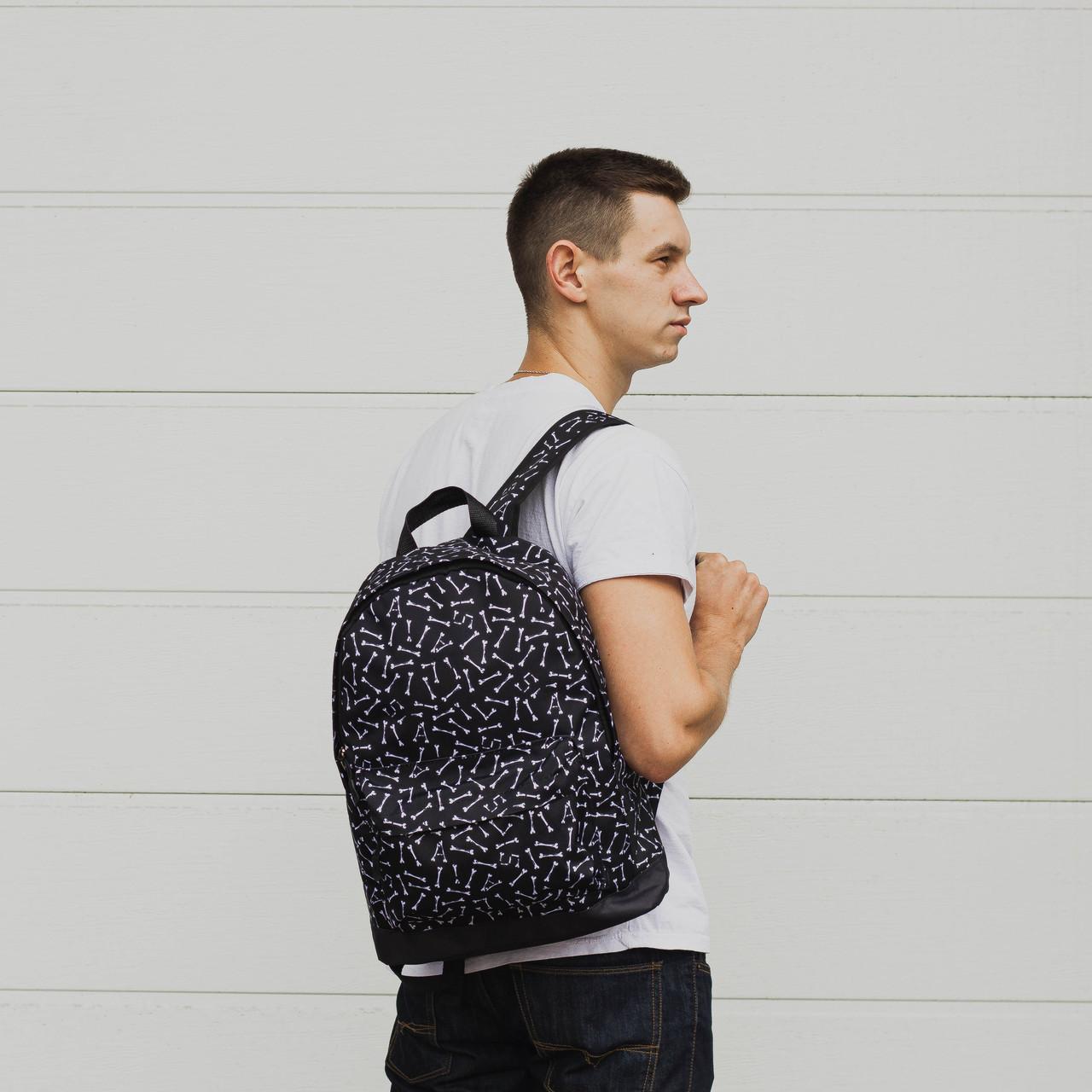 Рюкзак чорний модель Bone