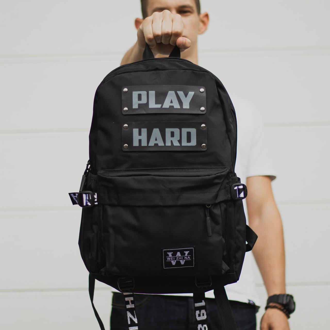 Рюкзак чорний модель Play Hard, фото 1