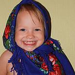 Южная ночь 148-13, павлопосадский платок шерстяной с шерстяной бахромой, фото 8
